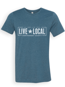 live local montgomery county unisex tee