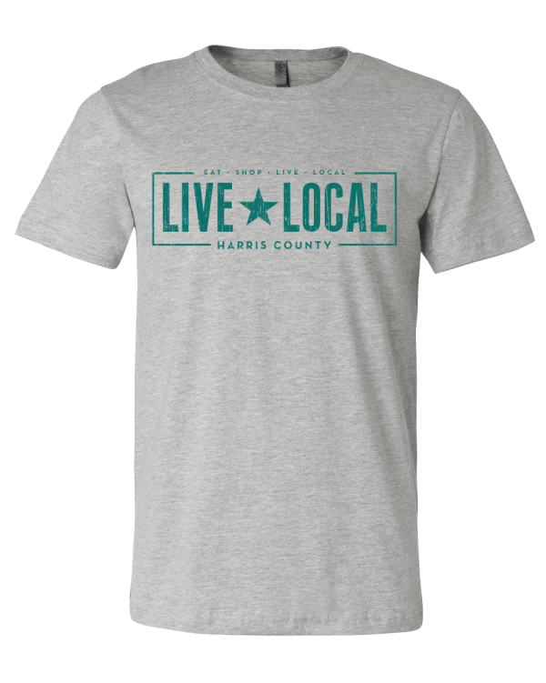 live local harris county unisex tee